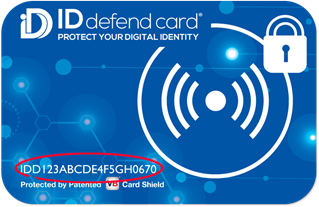 ID defend card